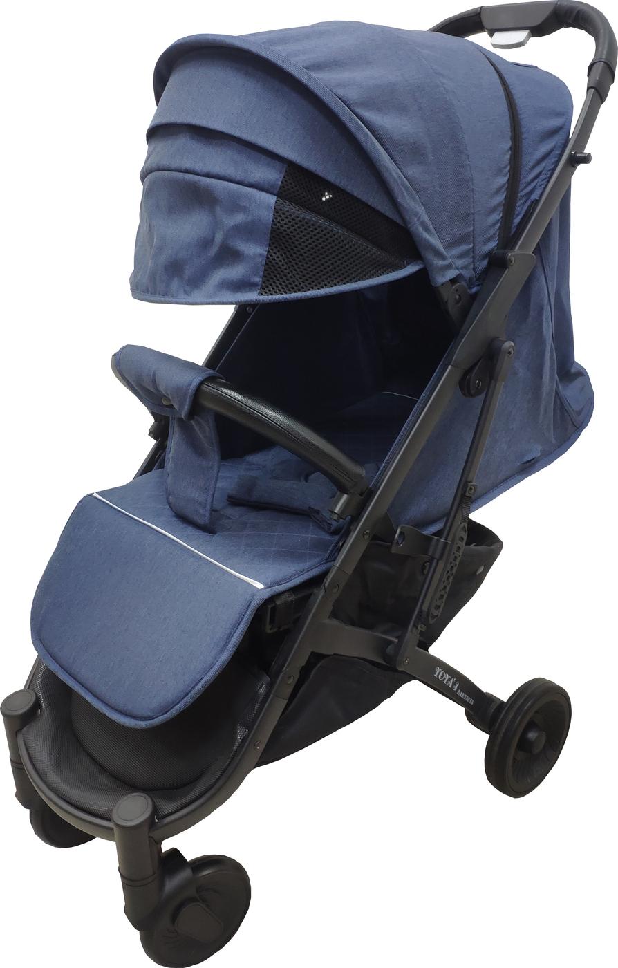 Детская коляска YOYA PLUS 3 Exclusive Темно-синяя черная рама