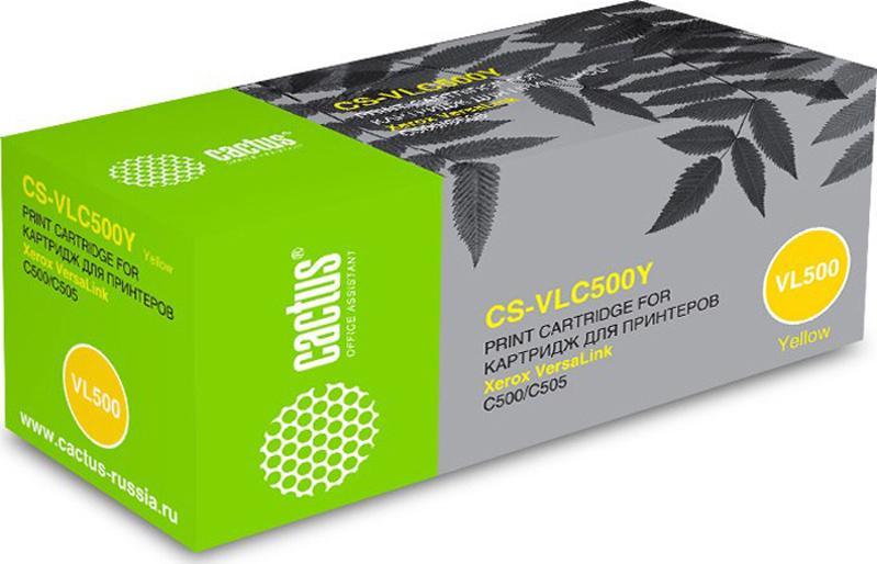 Тонер-картридж Cactus CS-VLC500Y, желтый, для лазерного принтера