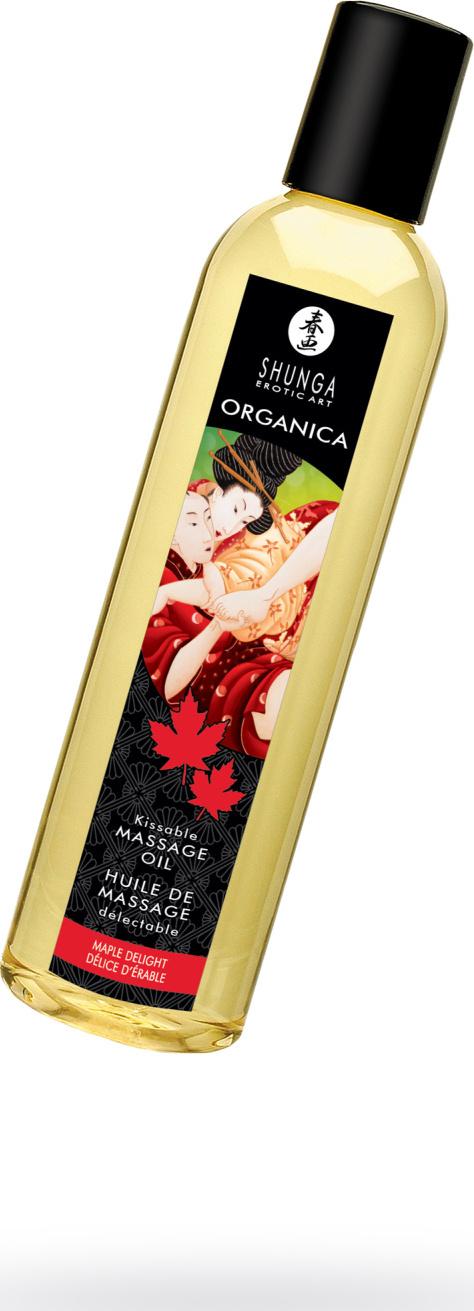 Возбуждающее массажное масло Shunga Organica Кленовый восторг для волнующего эротического массажа интимных зон, 250 мл. цена 2017