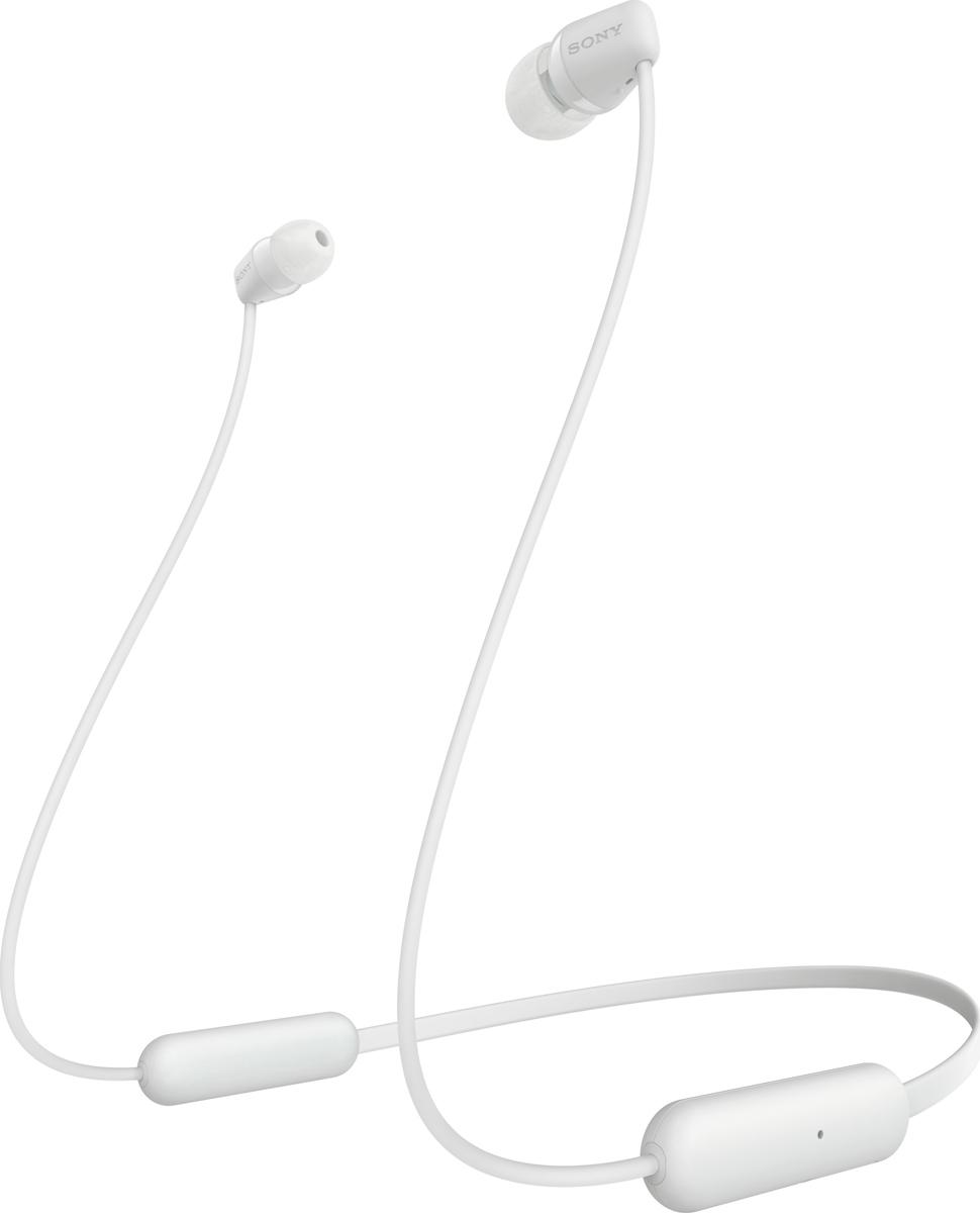 Беспроводные наушники Sony WI-C200, белый