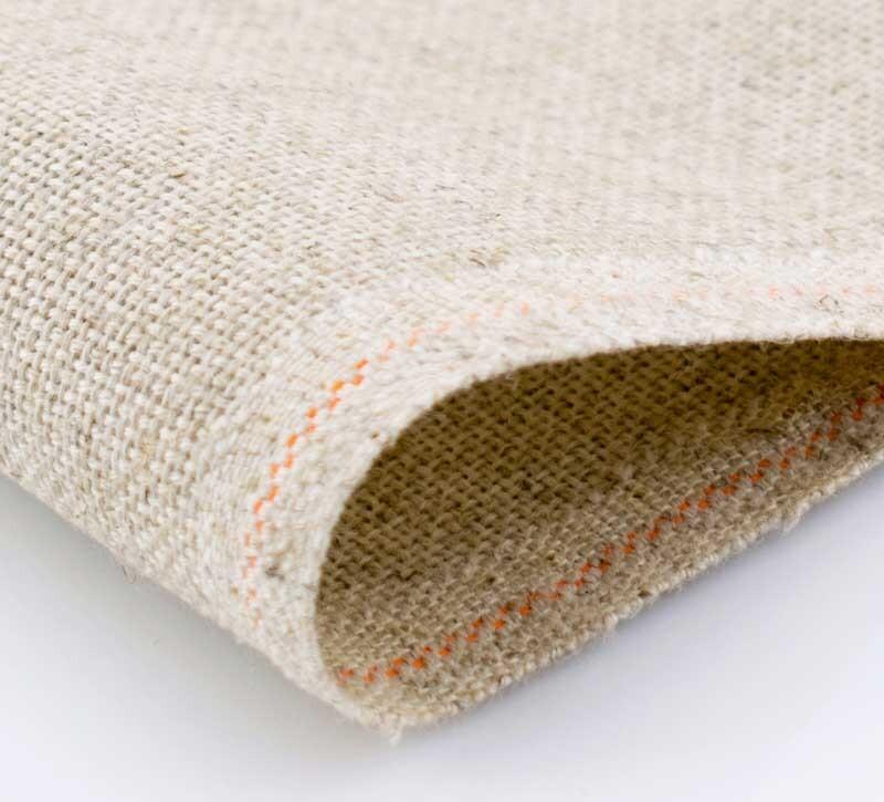 Канва Zweigart Perlleinen-100, 25 ct. (цвет-53 натуральный, 60% полиэстр, 40% лен, 40x50 cm.)