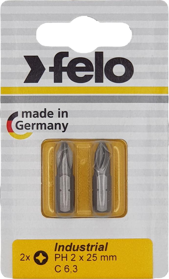 Бита для инструмента Felo Industrial, крестовая PH 2х25 мм, FEL-02202036, 2 шт