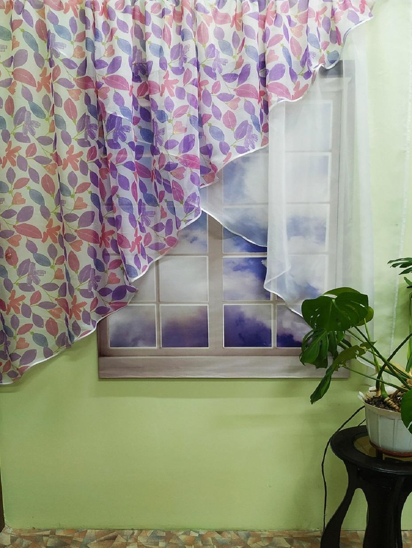 печать фото кухонных штор до пола даже потом