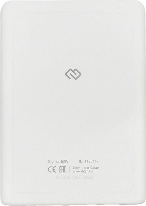 электронная книга digma r63w, белый
