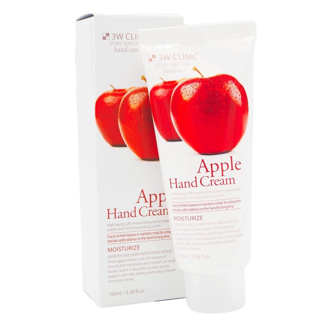 Крем для рук увлажняющий 3W Clinic с экстрактом яблока Apple Hand Cream, 100 мл.  Защищает ее от негативных внешних воздействий и замедляет проявление...