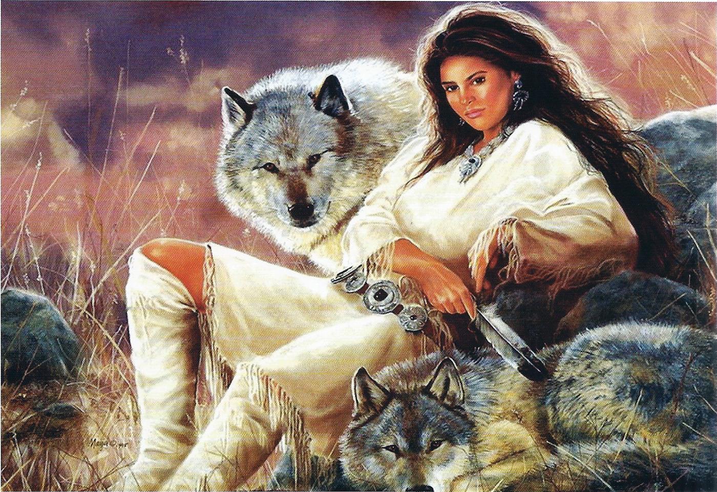 Картинки волк и женщина