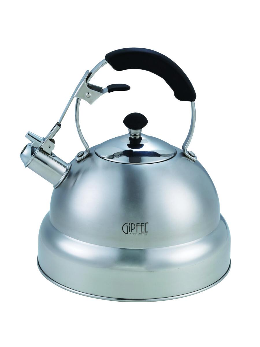 Чайник GIPFEL 1130 CYPRESS со свистком, с индукционным капсульным дном, нержавеющая сталь 18/10. Толщина: 0,5мм. Объем 4,5л