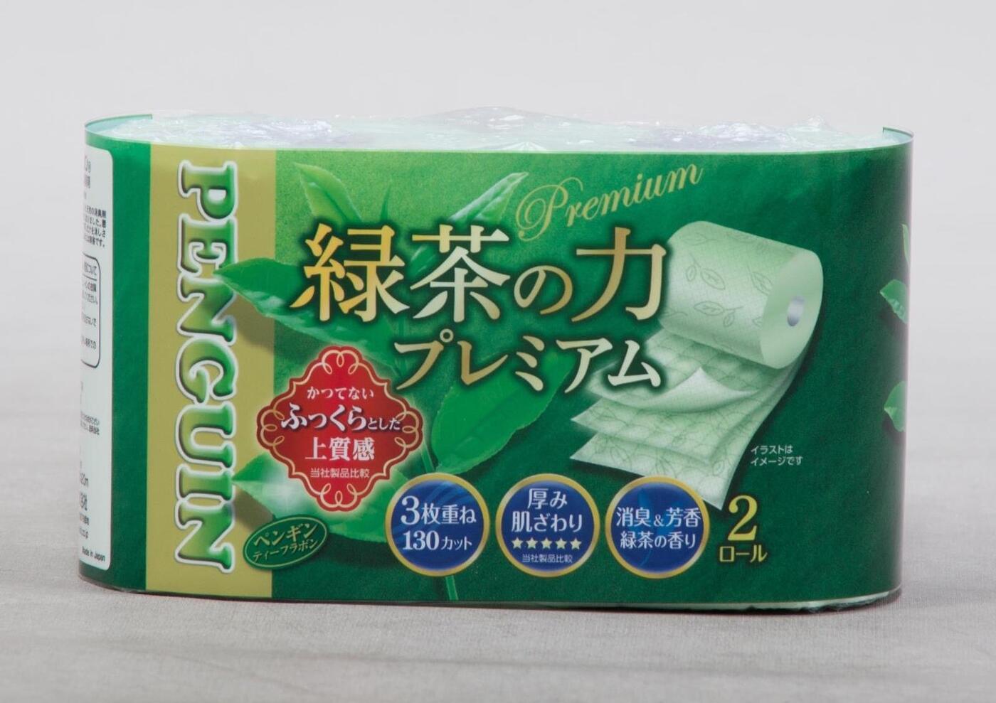 "Бумага туалетная MARUTOMI трехслойная ""Penguin Green Tea Premium"" (2 рулона)"