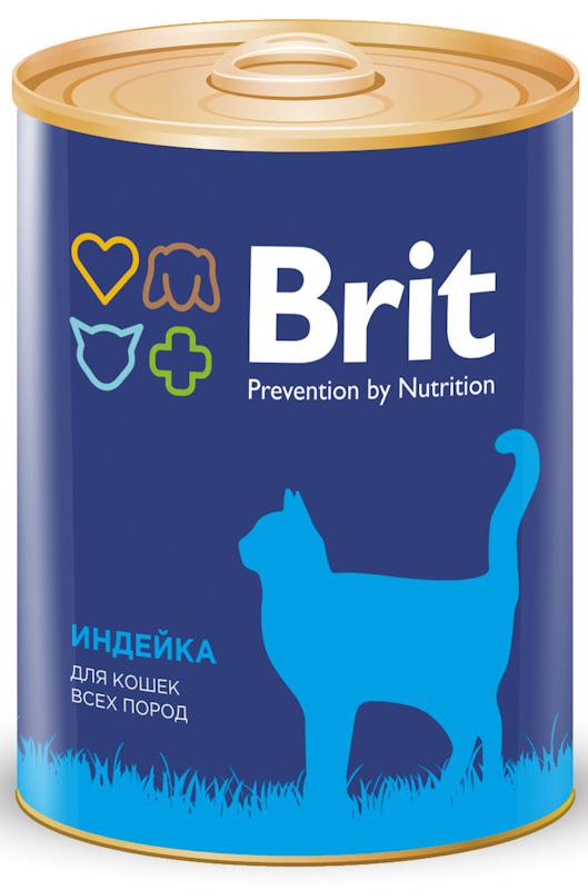 Консервы для кошек Brit Premium TURKEY Индейка, 340 г