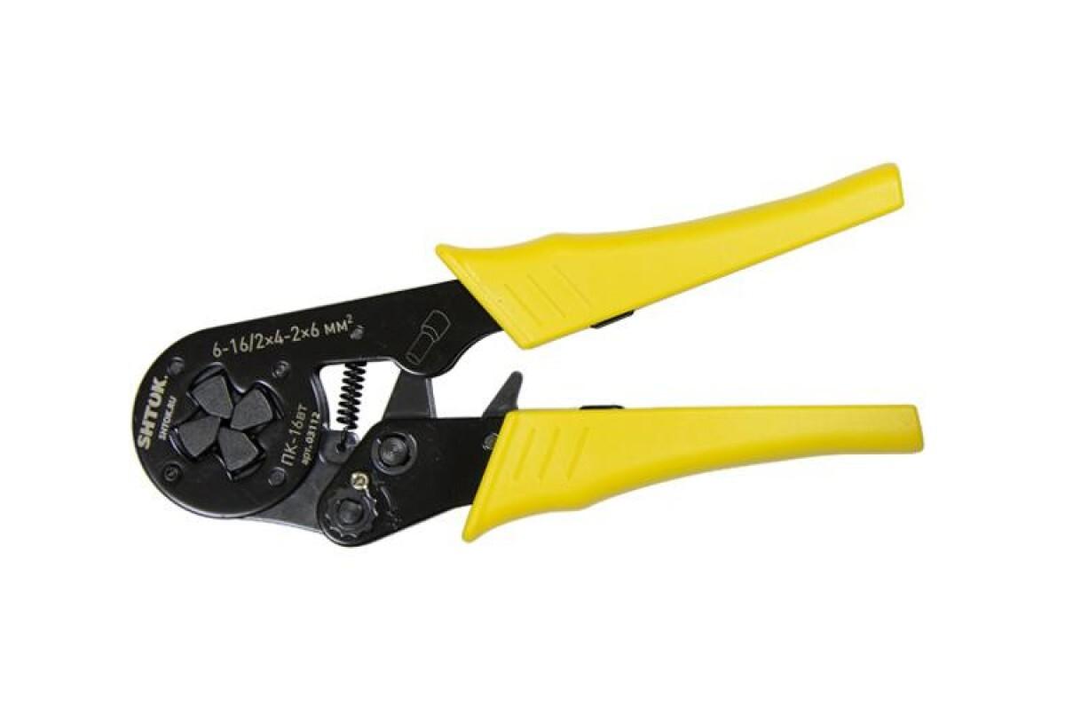 03504 Пресс-клещи для опрессовки втулочных наконечников 0.25-6 мм2 ПК-6вт-6, SHTOK.