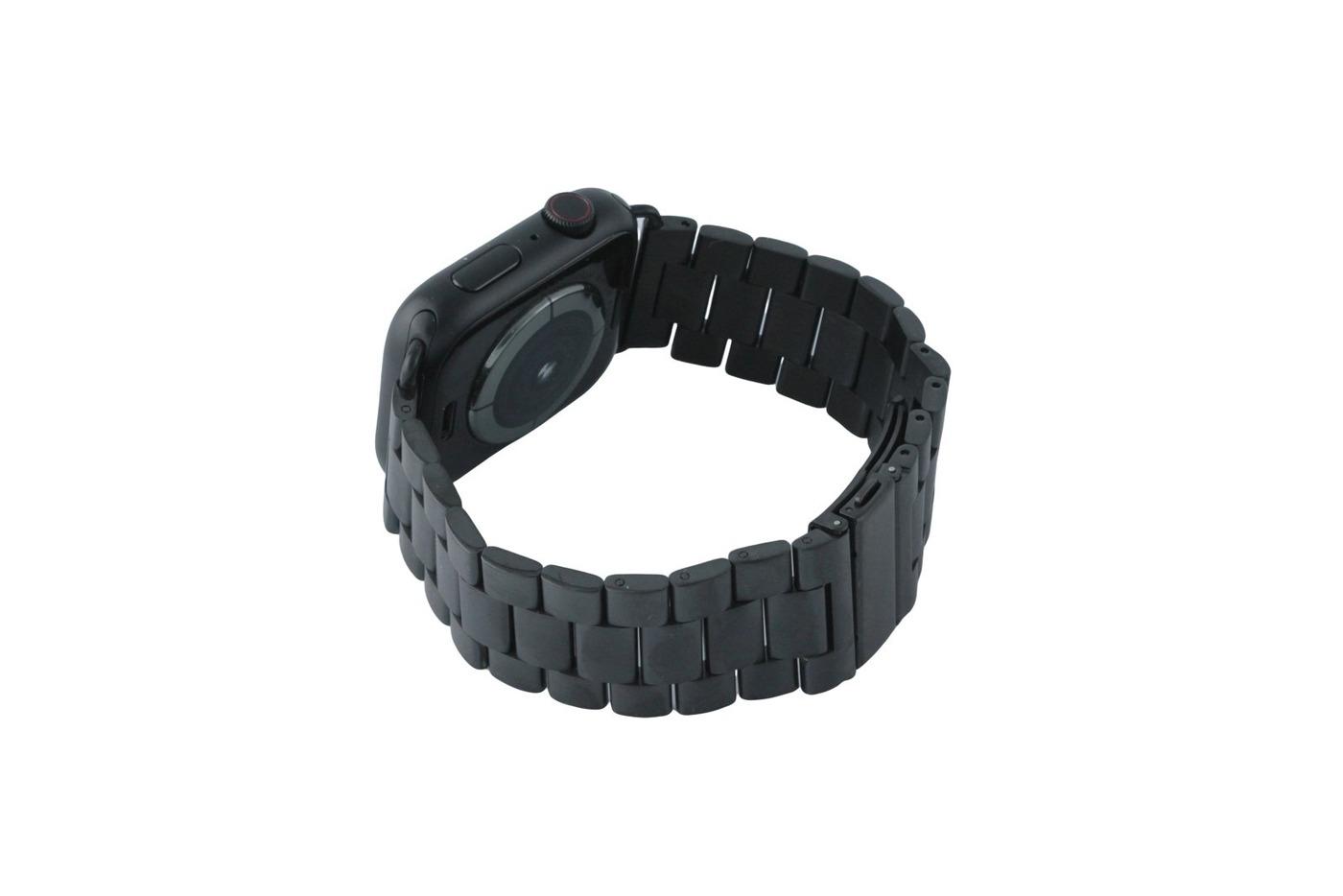 Ремешок металлический блочный для Apple Watch 42/44, черный