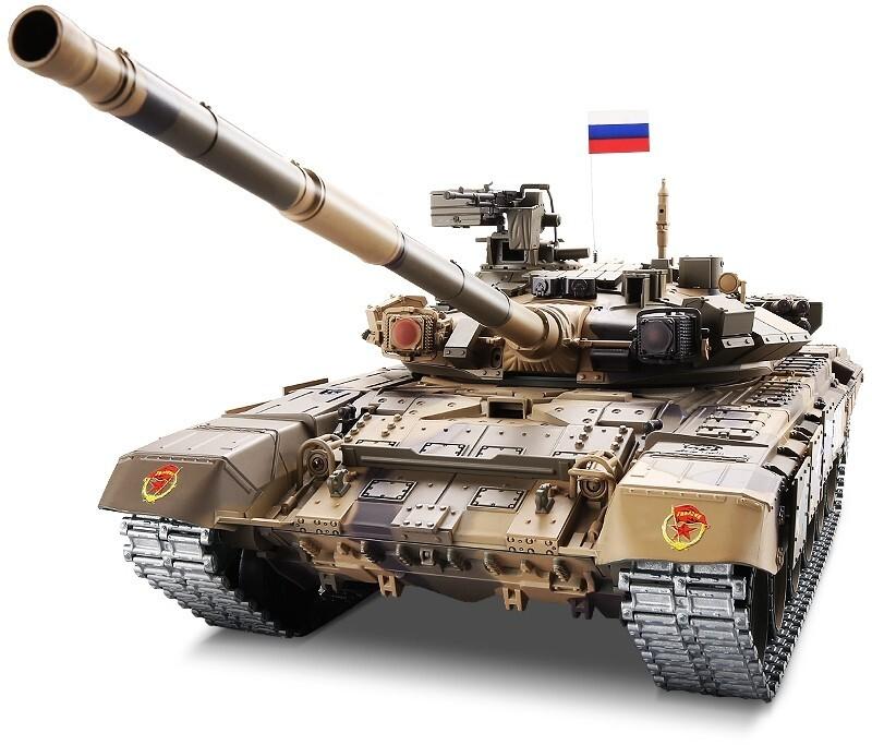Радиоуправляемый танк Heng Long T90 Pro Russia 1:16 (ИК+Пневмо) 2.4G - 3938-1PRO-MS V6.0
