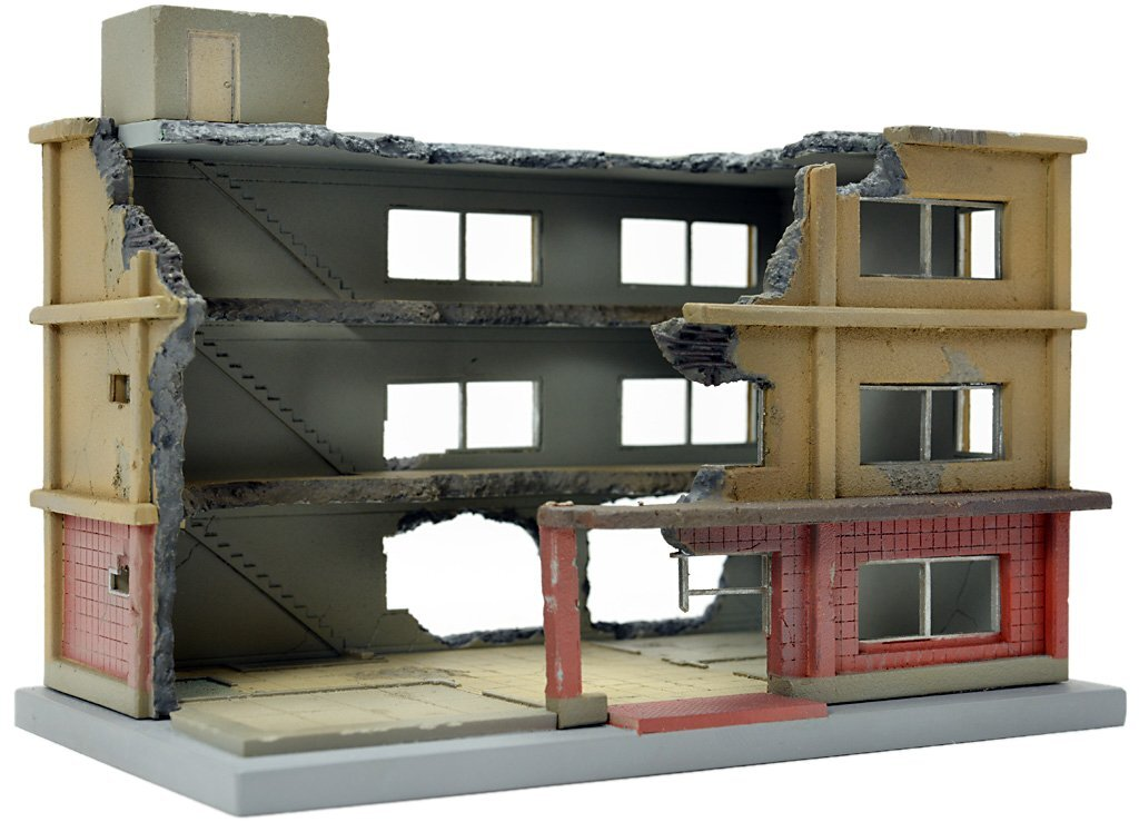 Wide building diorama supplies of Tommy Tech Jiokore building B width of the Building Collection 152 being dismantled