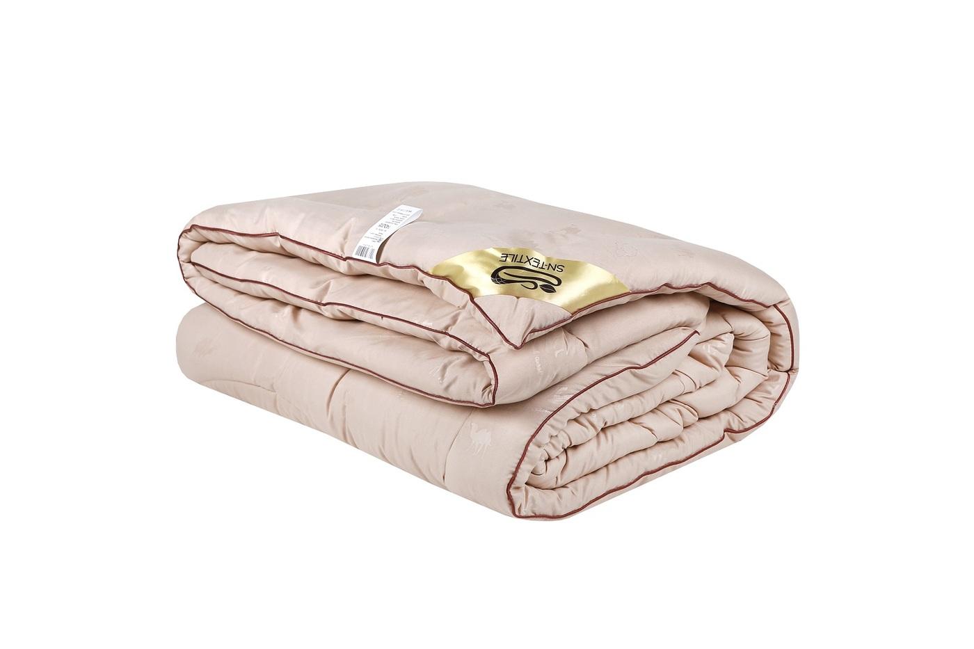 Одеяло Sn Textile ОМПВ-15 1,5 спальный, 140x205, Теплое, с наполнителем Верблюжья шерсть