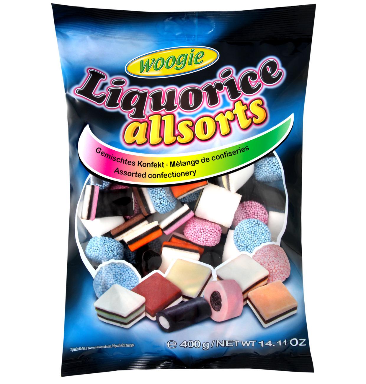 Ассорти жевательных конфет с лакрицей, 400 г