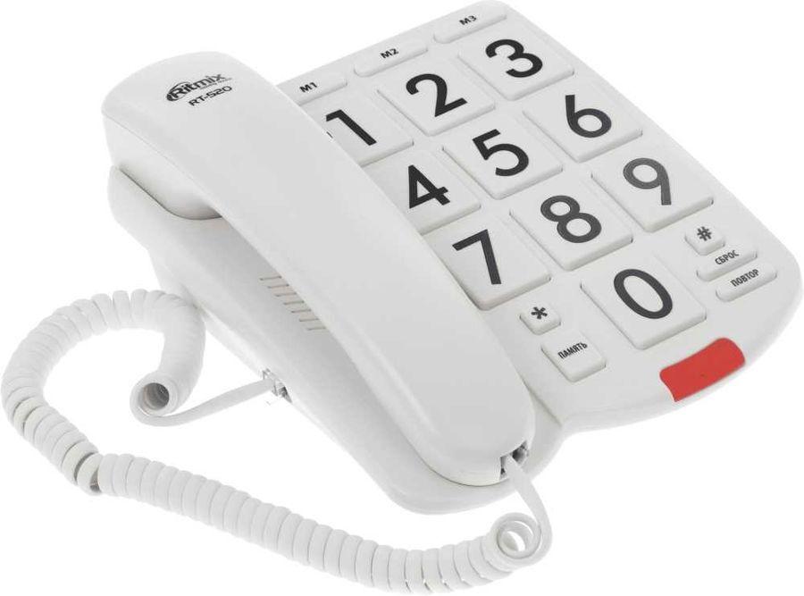 телефон ritmix rt-520, слоновая кость