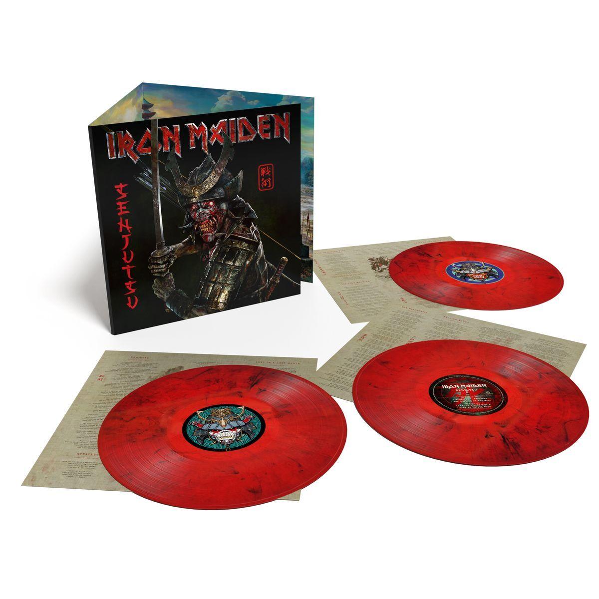 Виниловая пластинка IRON MAIDEN. SENJUTSU. Limited 180 Gram Red & Black. 03.09.2021, (3LP)