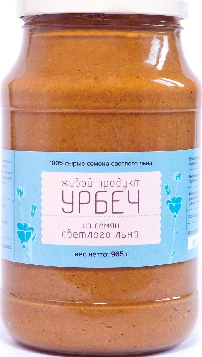 Урбеч Живой Продукт из семян светлого льна, паста, 965 г #1