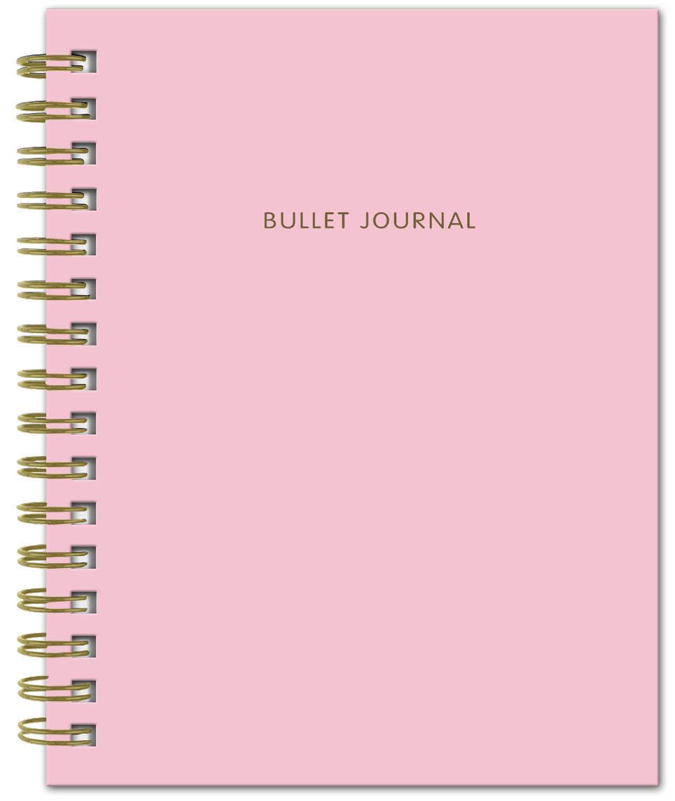Bullet Journal (Розовый) 162x210мм, твердая обложка, пружина, блокнот в точку, 120 стр. | Нет автора #1