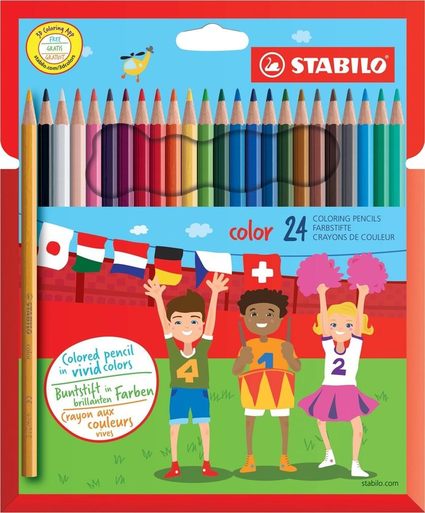 Карандаши цветные STABILO Color, 24 цвета #1
