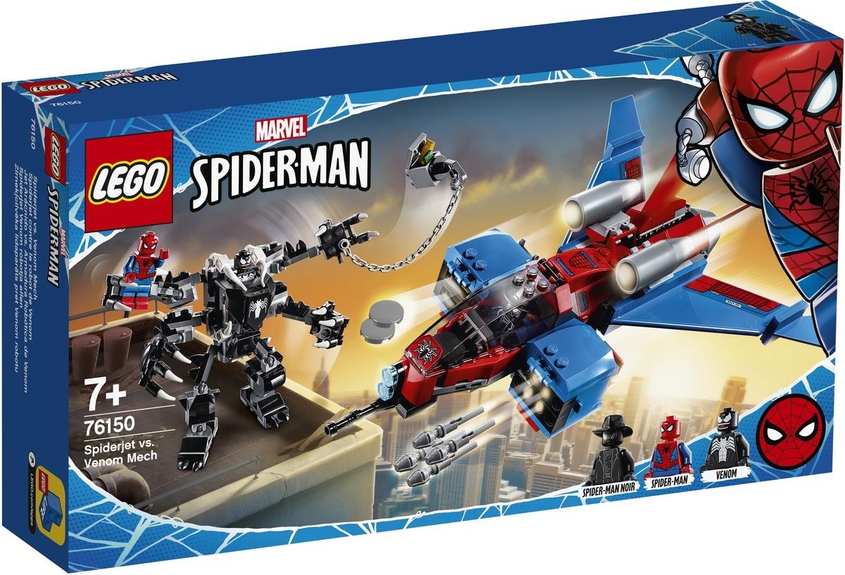 Конструктор LEGO Marvel Super Heroes 76150 Реактивный самолёт Человека-Паука против Робота Венома  #1