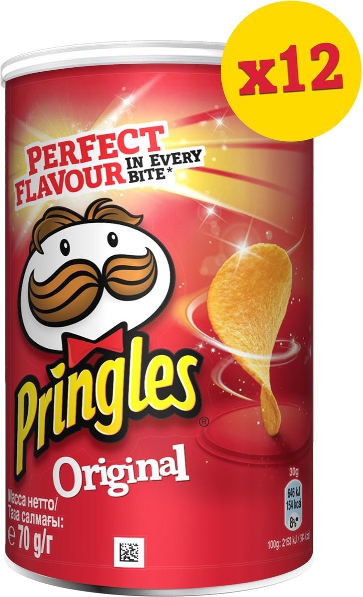 Чипсы Pringles картофельные, оригинал, 12 шт по 70 г #1