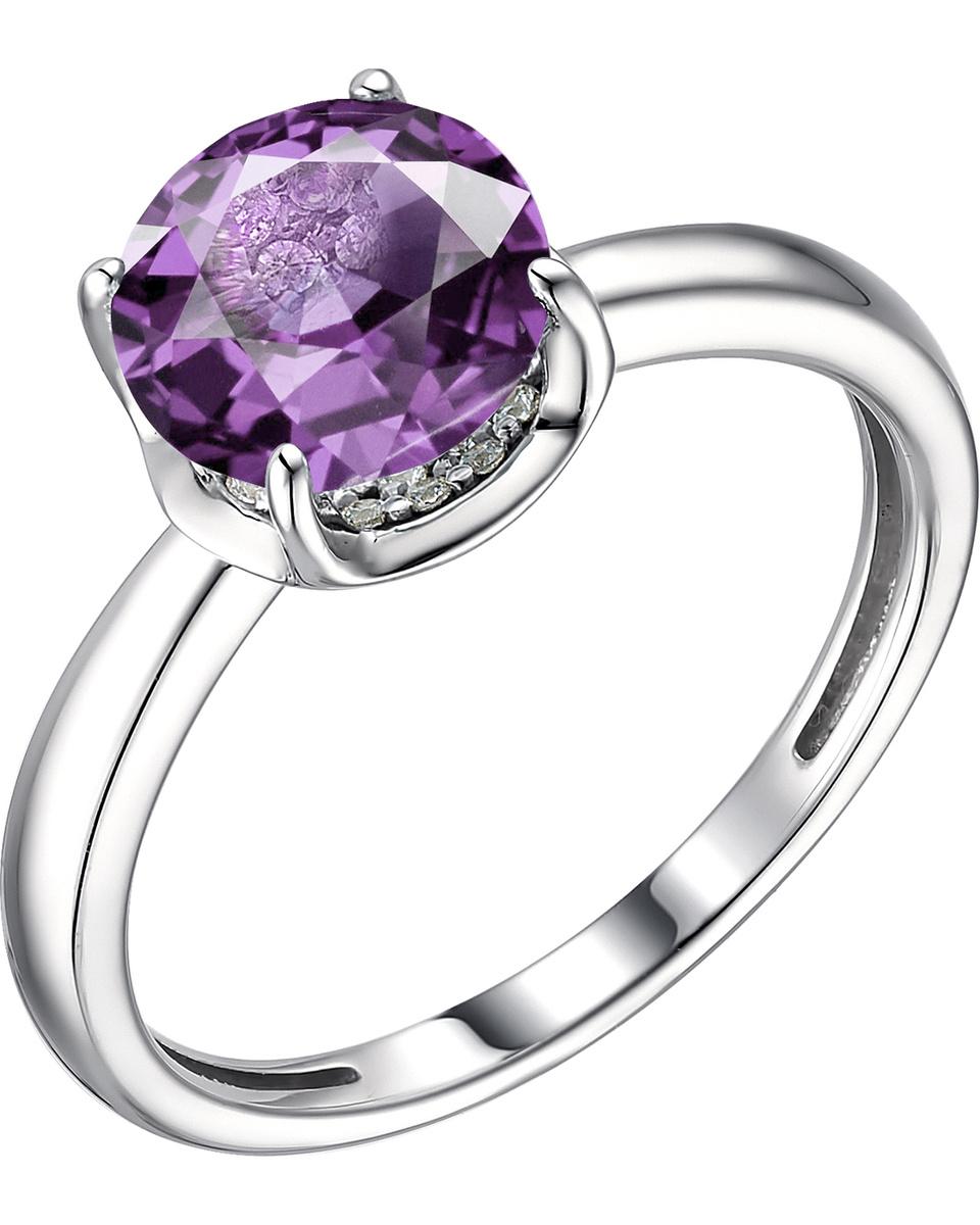 Кольцо Алькор из серебра с аметистом 01-1876/00АМ-00 #1