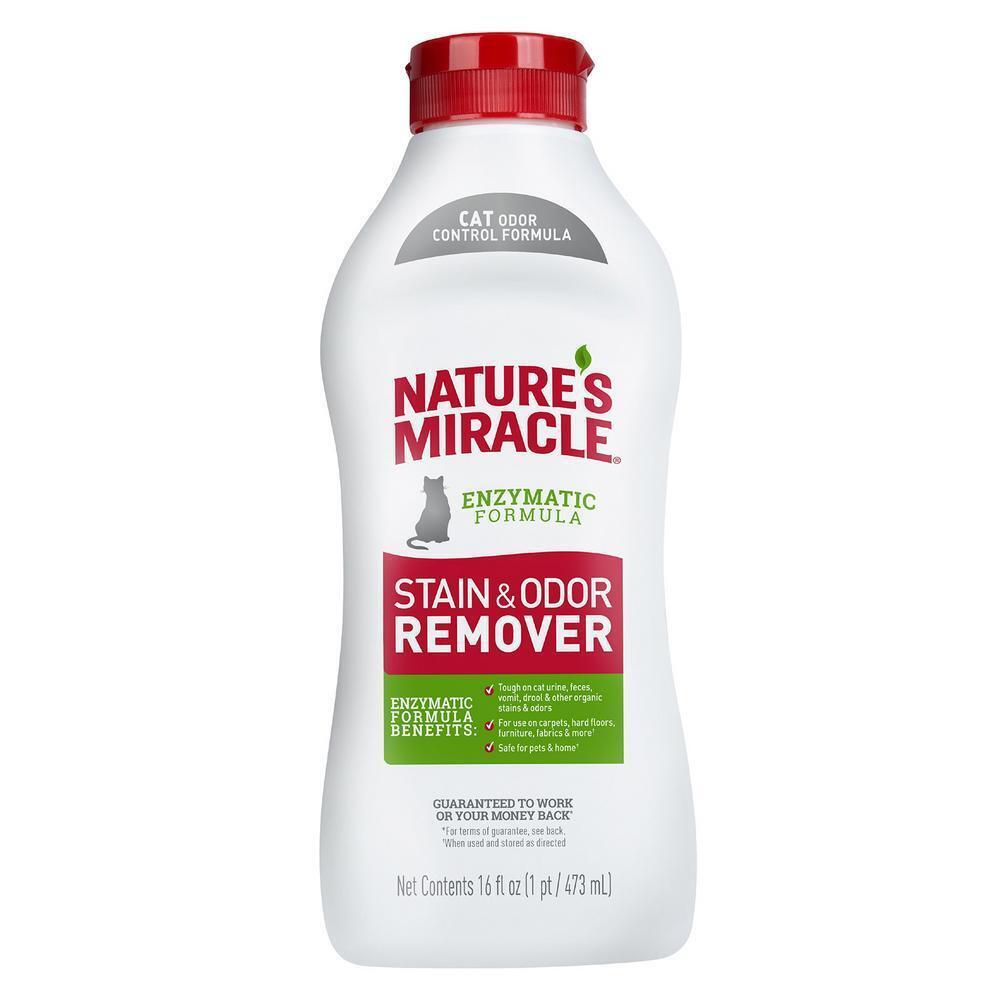 Nature's Miracle Уничтожитель пятен и запахов, для кошек, универсальный, 473 мл (флакон)  #1