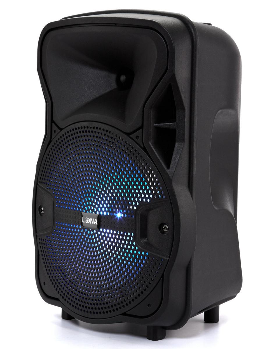 Колонка портативная с радио и блютуз LOONA USB подсветка беспроводная переносная караоке Bluetooth музыкальная #1