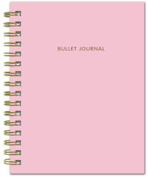 Bullet Journal (Розовый) 162x210мм, твердая обложка, пружина, блокнот в точку, 120 стр. | Нет автора. Блокноты и ежедневники от издательств