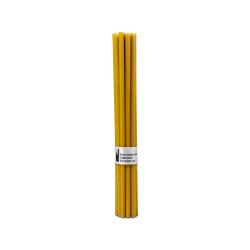 Свечи жёлтые 2 часа 265x7.15 14шт №40. Жёлтые свечи