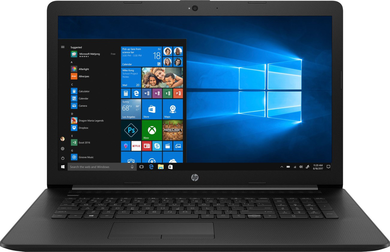 17,3 Ноутбук HP 17-by0176ur 6PR57EA, черный