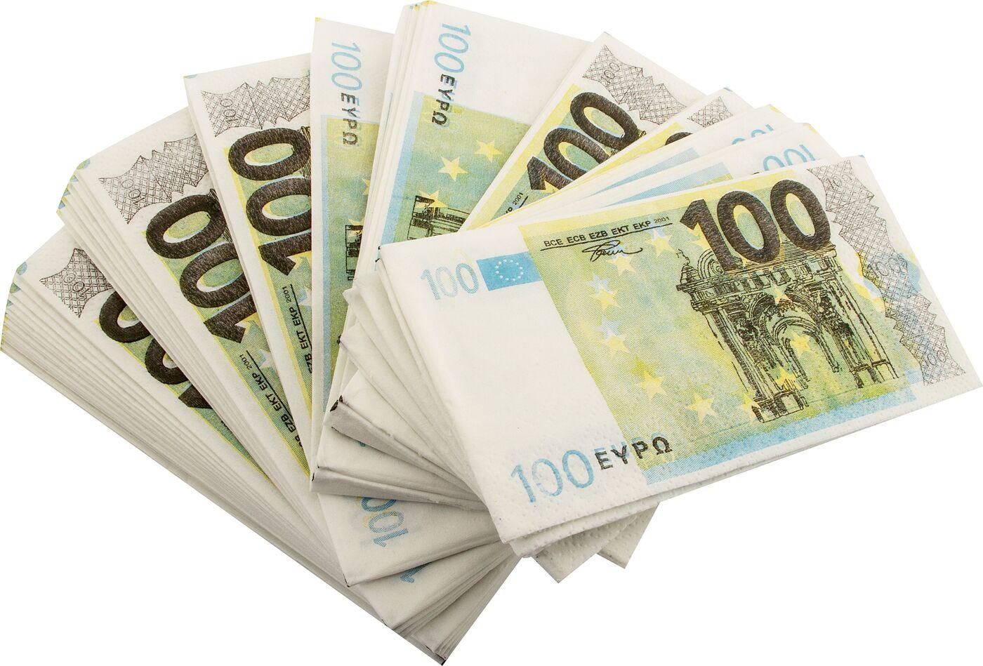 Салфетки Пачка 100 евро салфетки пачка 100 евро