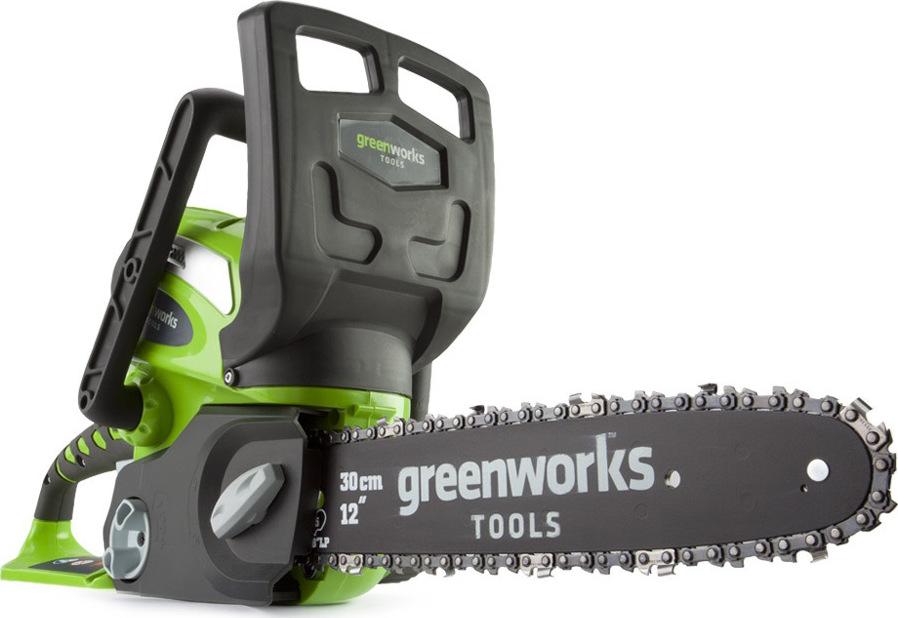 Пила цепная аккумуляторная Greenworks G40CS30 40V без АКБ и ЗУ пила цепная аккумуляторная greenworks gd60cs40 2001807 без аккум и зу