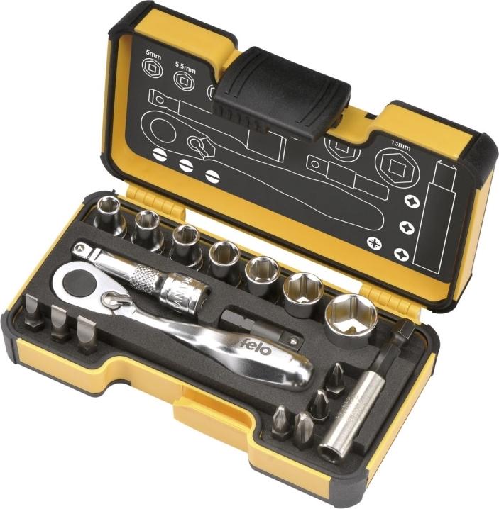 Набор бит FELO 05771856 набор бит sparta с адаптерами для бит в пластиковом боксе 100 предметов