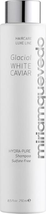 Увлажняющий шампунь с маслом прозрачно-белой икры Miriam Quevedo Glacial White Caviar Hydra-Pure Shampoo Шампунь 250 мл воск для волос miriam quevedo white caviar hydra pure texture molding wax увлажняющий моделирующий с маслом прозрачно белой икры 50 мл