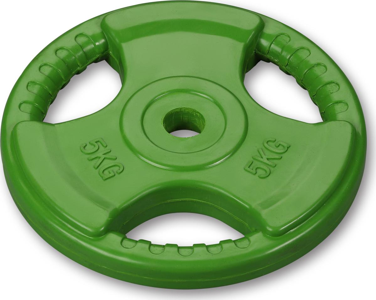 Диски Indigo с хватом, IN136, светло-зеленый, 26 мм, 5 кг