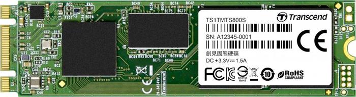 Твердотельный накопитель 1Tb SSD Transcend MTS800S, TS1TMTS800S внешний твердотельный диск ssd transcend esd400