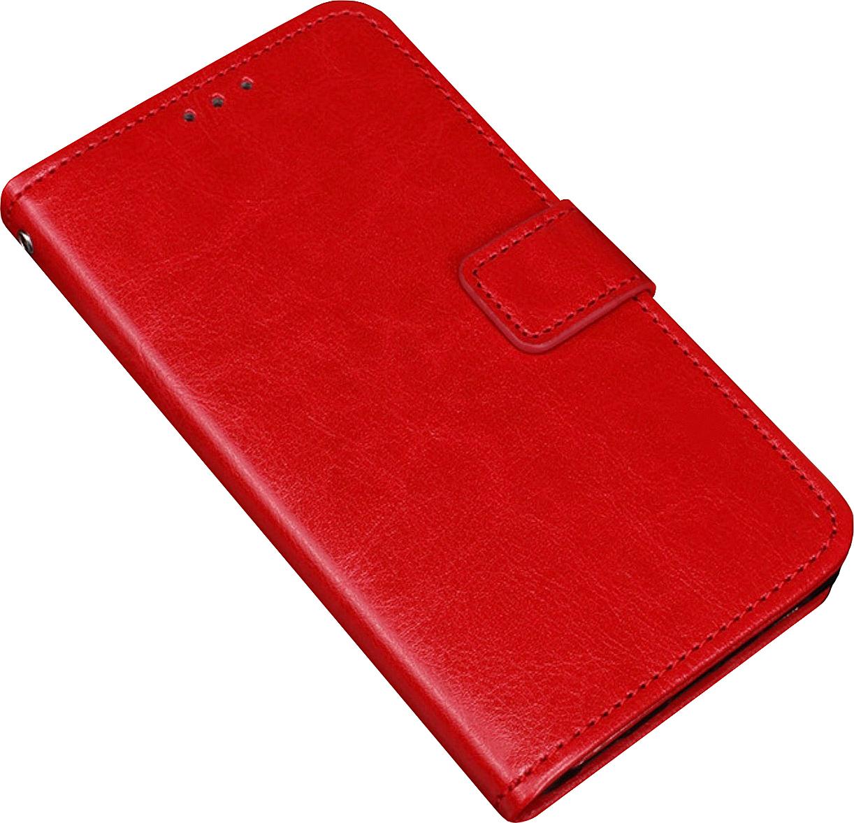 Чехол-книжка MyPads для Sony Xperia 10 Plus с мульти-подставкой застёжкой и визитницей красный