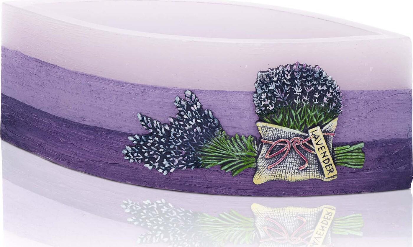 Свеча Bartek Rustic Lawender, фиолетовый, 26,5 х 9,5 8 см