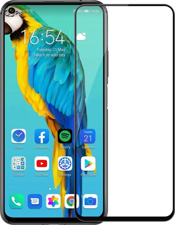 Защитное стекло 5D Unipha Full Glue закалённое для Huawei Honor 20 Pro, чёрное