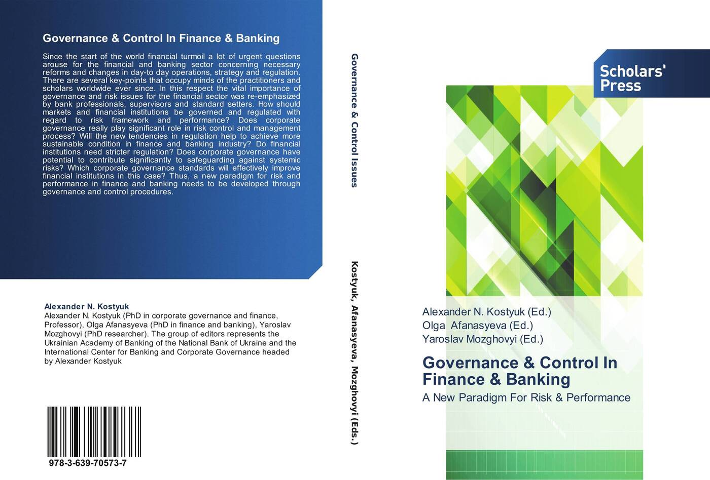 Alexander N. Kostyuk,Olga Afanasyeva and Yaroslav Mozghovyi Governance & Control In Finance & Banking banking reforms and agricultural finance in india