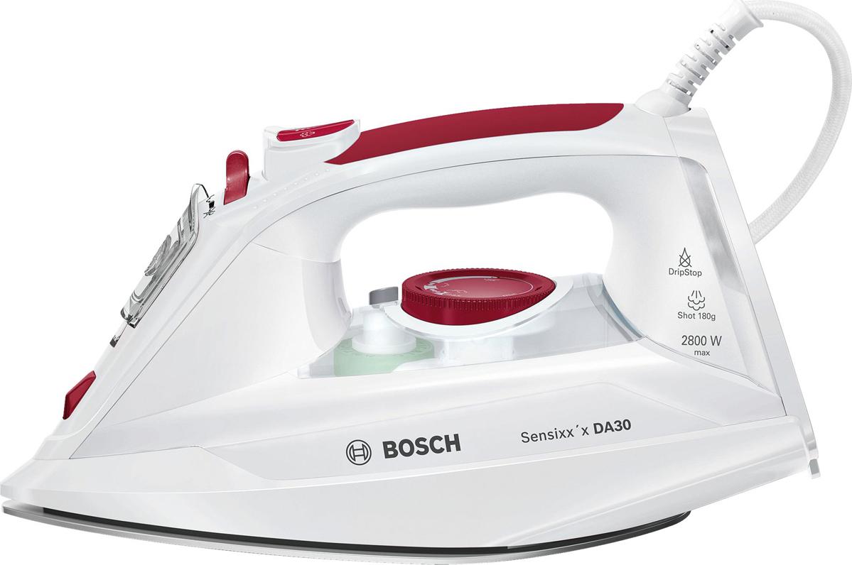 Утюг Bosch Sensixx'x DA30, красный, белый