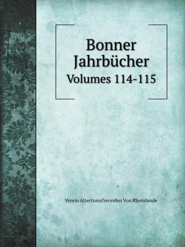 V.A. Rheinlande Bonner Jahrbucher. Volumes 114-115 цены