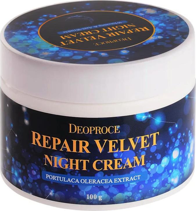Крем для лица ночной восстанавливающий Deoproce Moisture Repair Velvet Night Cream 100мг Deoproce