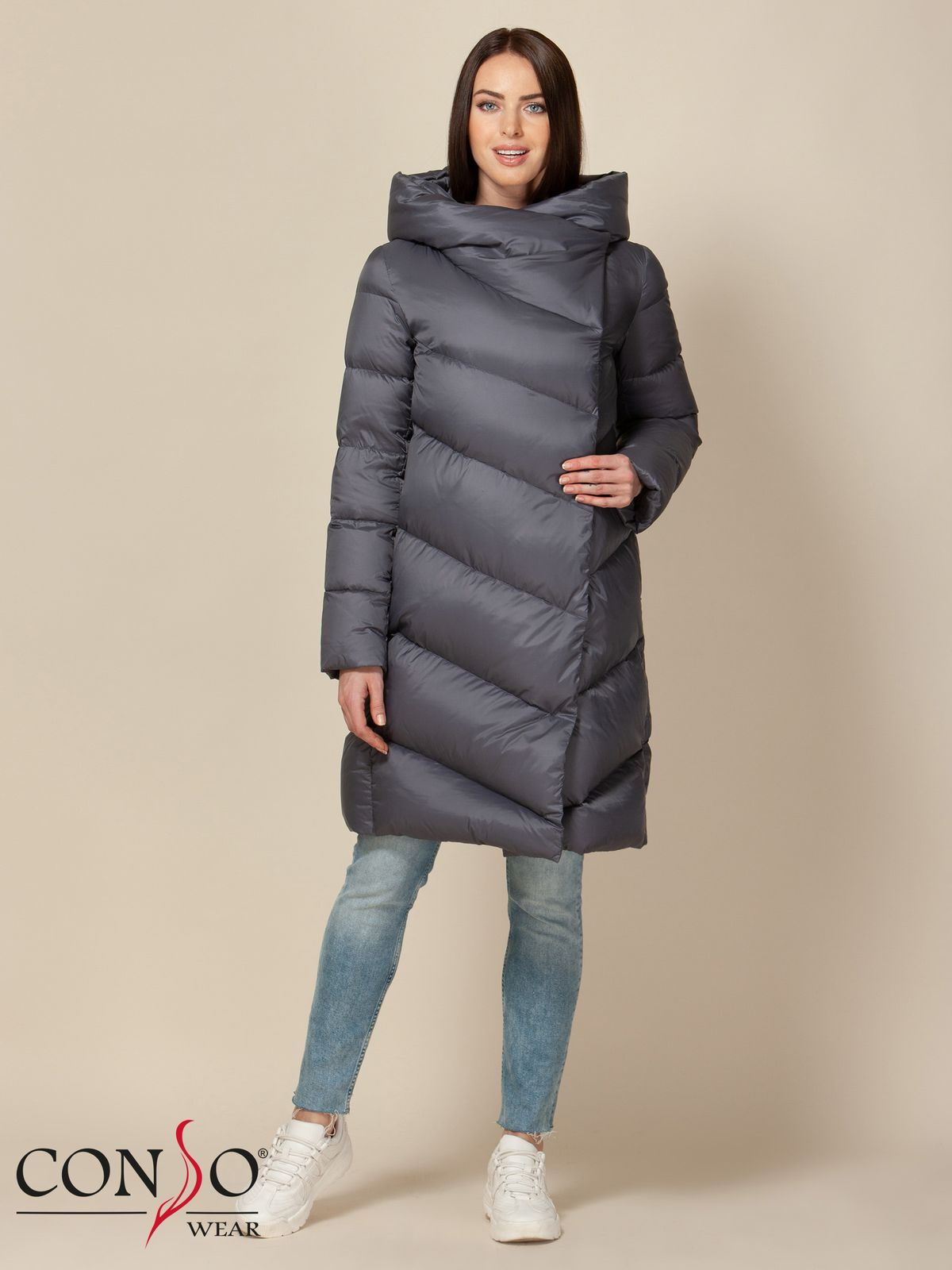Пуховик Conso утепленное пальто conso утепленное пальто