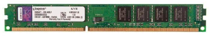 Оперативная память Kingston 8GB DDR3L 1600 DIMM, KVR16LN11/8 ,1.35V, Non-ECC, CL11 (225914) модуль памяти dimm 8gb ddr3l pc12800 1600mhz kingston kvr16ln11 8
