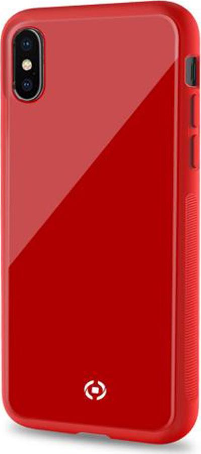 Чехол-накладка Celly Diamond для Apple iPhone XS, красный