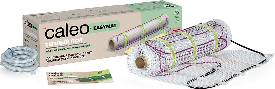 Комплект теплого пола CALEO EASYMAT 140-0,5-1,2  нагревательный мат 4мм 168Вт 1.2м2