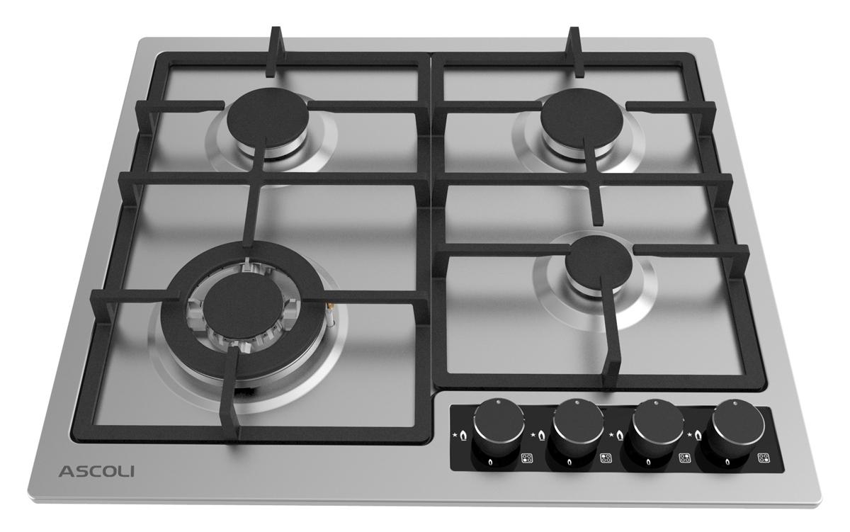 Варочная панель Ascoli HGS604-02CSG, серебристый Ascoli